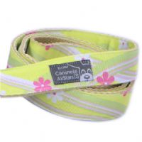 DOG LEAD - HAWAIIAN SWIRLS YELLOW